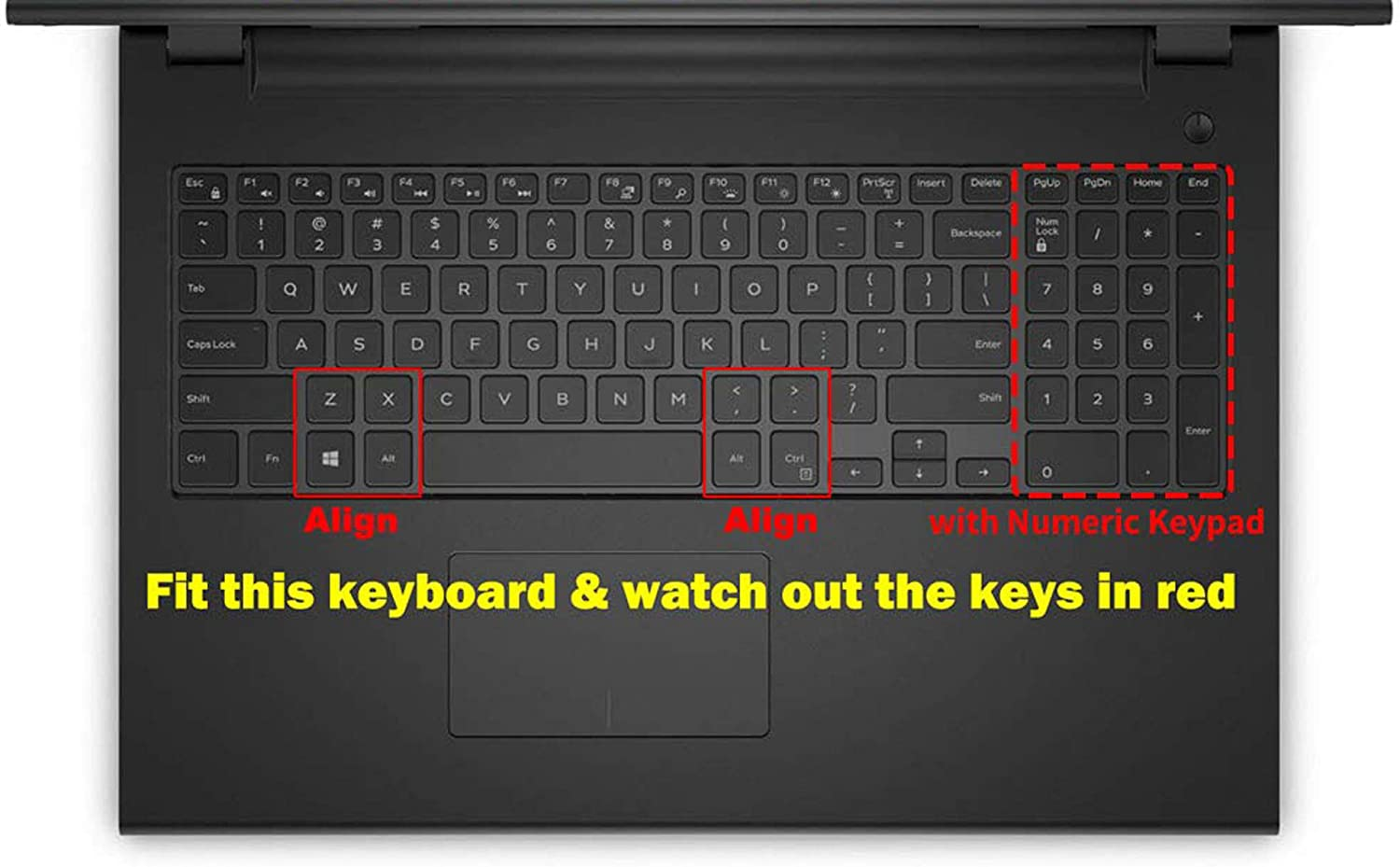 Saco Keyboard Protector Silicone Skin Cover for Dell Vostro 15 3558 15.6-inch Laptop Transparent