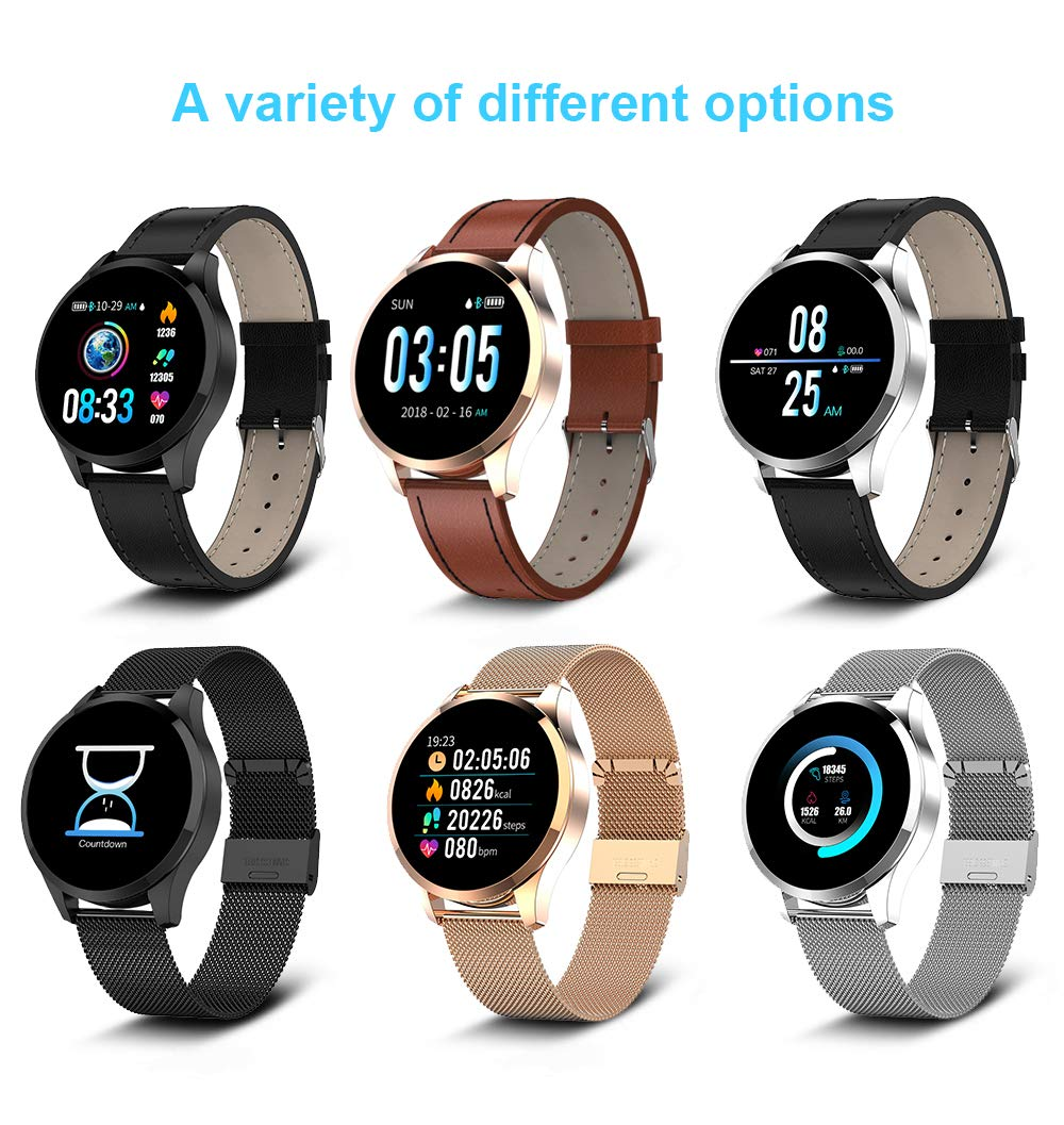 Mujeres Smart Watch Q9, Pantalla táctil Smart Watch Ip67 ...