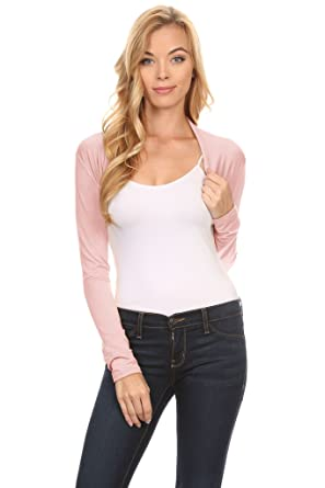 Women's Bolero Shrug Cardigan Short Sleeve and Long Sleeve at ...