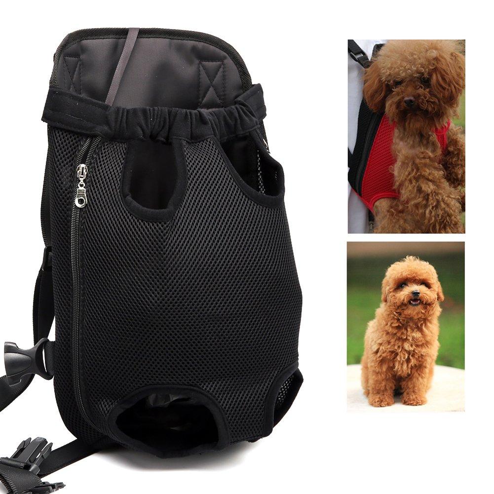 L OMEM Pet Dog Backpack Carrier Front Pack Adjustable Cat Outdoor Travel Bag