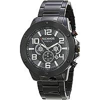 Relógio Technos, Pulseira de Aço Inoxidável, Masculino Preto JS26AU/4P