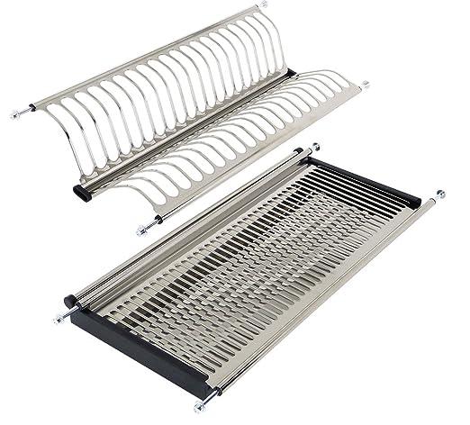 Esteco 1 juego escurridores az28/40 para mueble de 40 cm de ancho acero inox 304