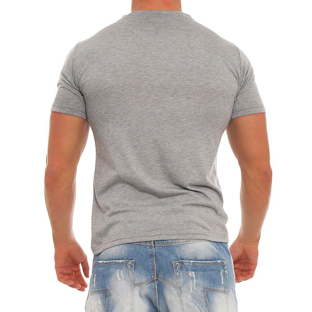 Diva-Jeans - Camiseta - Básico - para hombre gris X-Large: Amazon ...