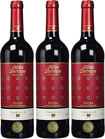 Altos Ibéricos Crianza, Vino Tinto - 3 botellas de 75 cl, Total: 2250 ml