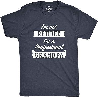 Mens Im Not Retired Im A Professional Grandpa T Shirt