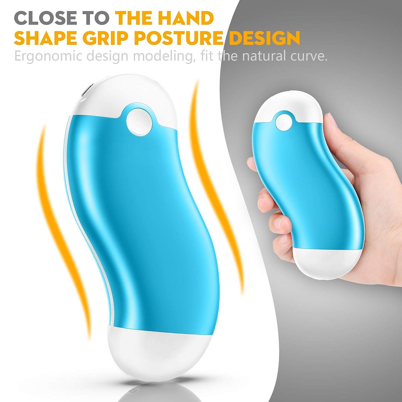 Chauffe Mains pour Hommes Femmes en Hiver Froid 6000mAH USB Chaufferette Main /électrique Portable Batterie Externe pour iphone,Samsung,ipad EEIEER Chauffe-Mains Rechargeable