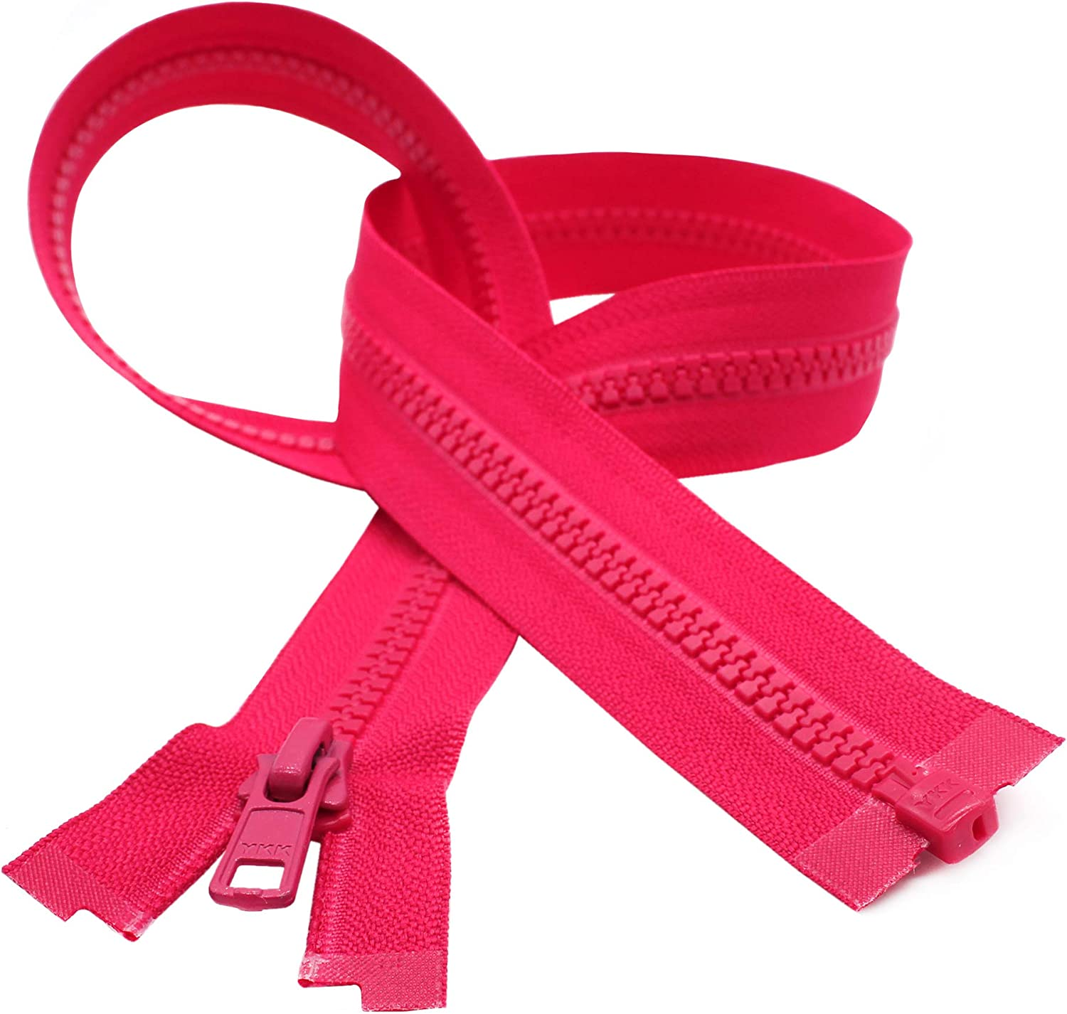 pink not separable Set of 3 zippers 25 cm
