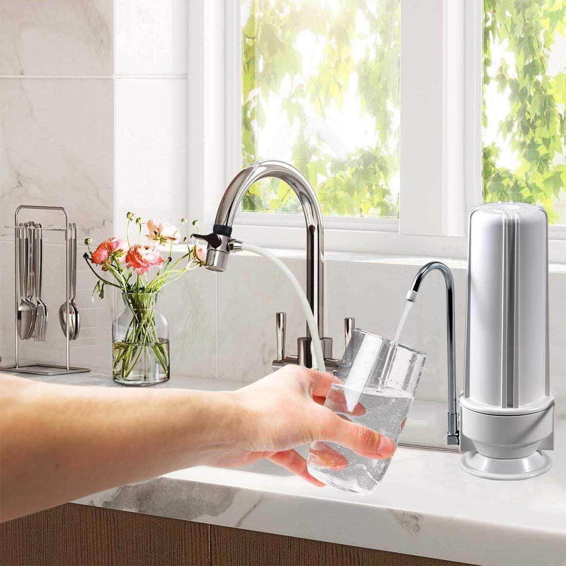NU Aqua Premium Countertop Water Filter compact size