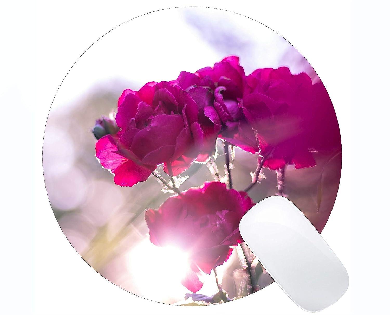 Cojín de ratón Redondo del rectángulo, centenares de Flores ...