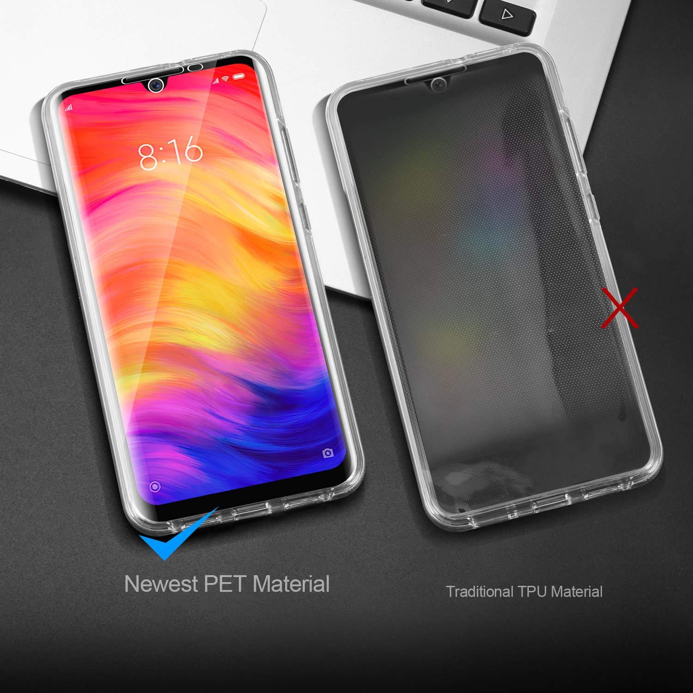 AROYI Funda Xiaomi Redmi 7 PC Dura Resistente Anti-Ara/ñazos Protectora Case Cover para Xiaomi Redmi 7 Ultra Slim Doble Cara Carcasa Protector Transparente TPU Silicona