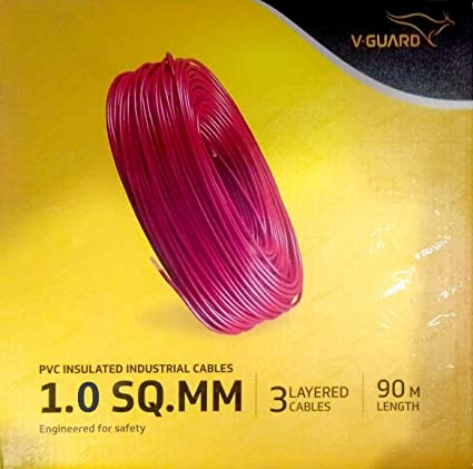 V-Guard PVC 1.5Sq.mm 90m House Wire (Black)
