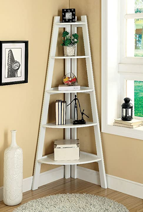 amazon com 1perfectchoice lyss contemporary corner wall ladder rh amazon com ladder display shelf plans wooden ladder display shelves