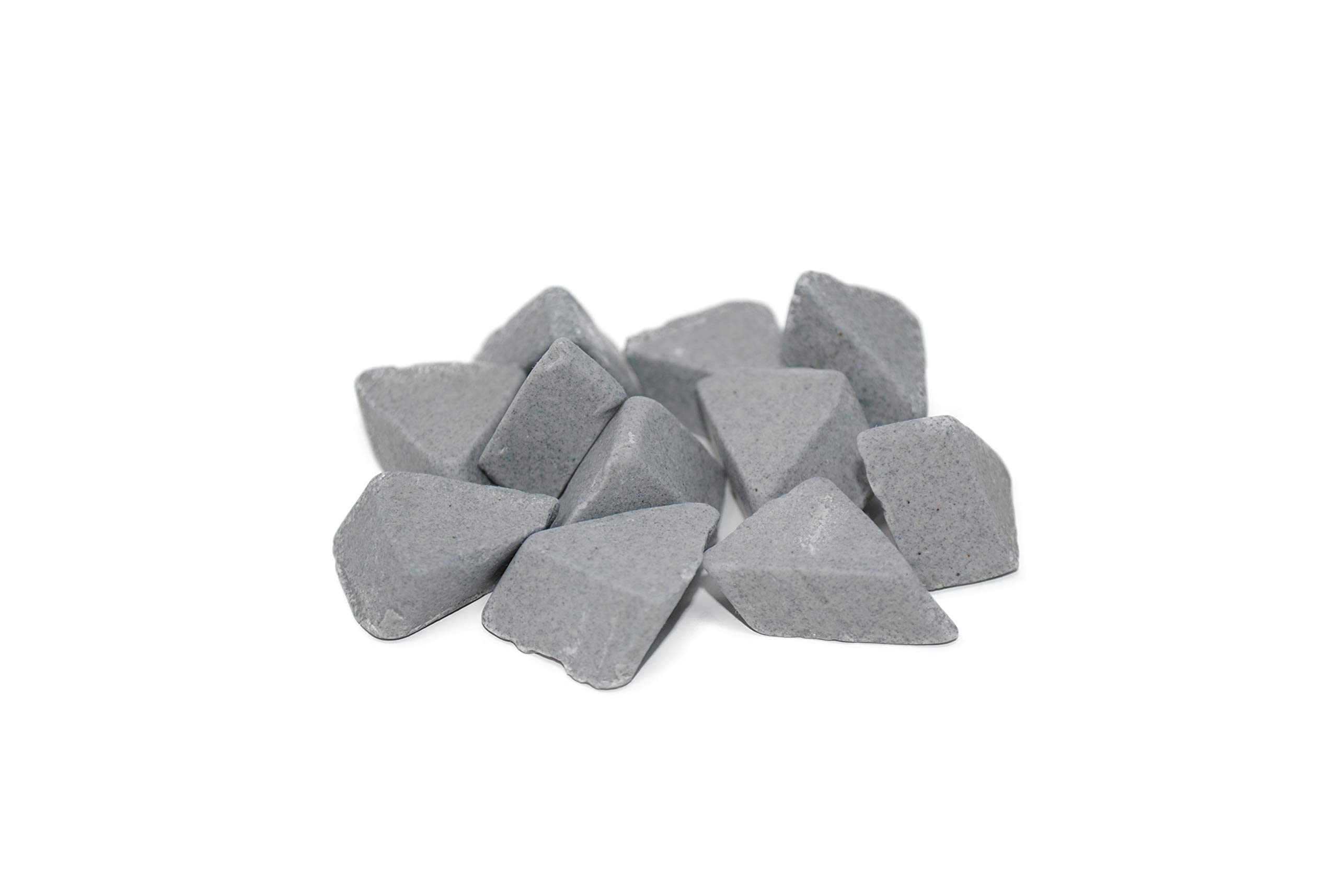 Walther Trowal ARM 15X10 Angle Cut, Triangle Shape, Ceramic Tumbling Rocks, 55 lb Bag, Low Cut