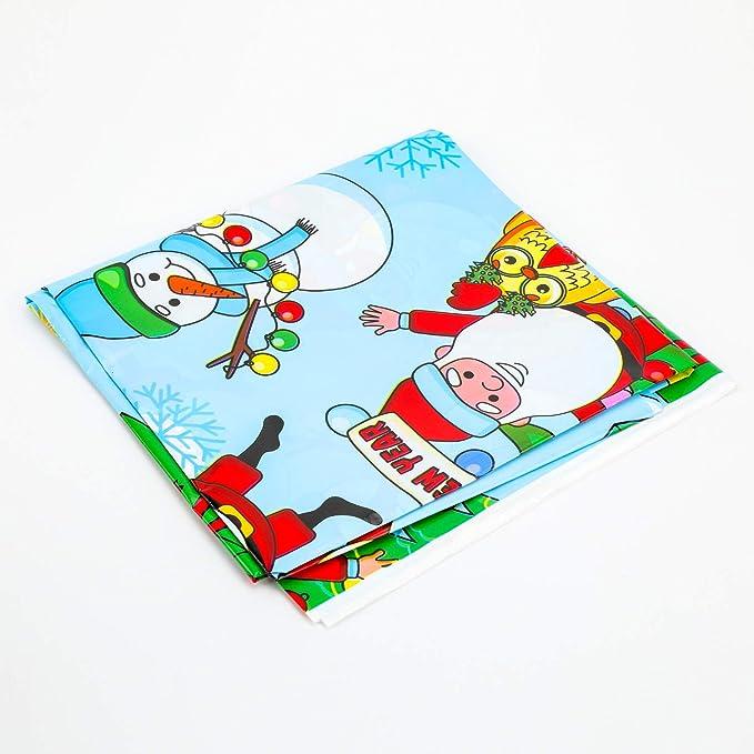 10pcs Bolsa de Transporte de Caramelo QKURT Mantel de Navidad 110x180cm PVC Vinly Cubierta de Mesa Protector