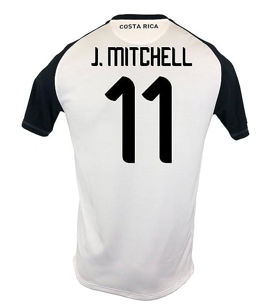 New Balance J. Mitchell  11 Costa Rica Away Soccer Men s Jersey FIFA World  Cup aa6a4dd64