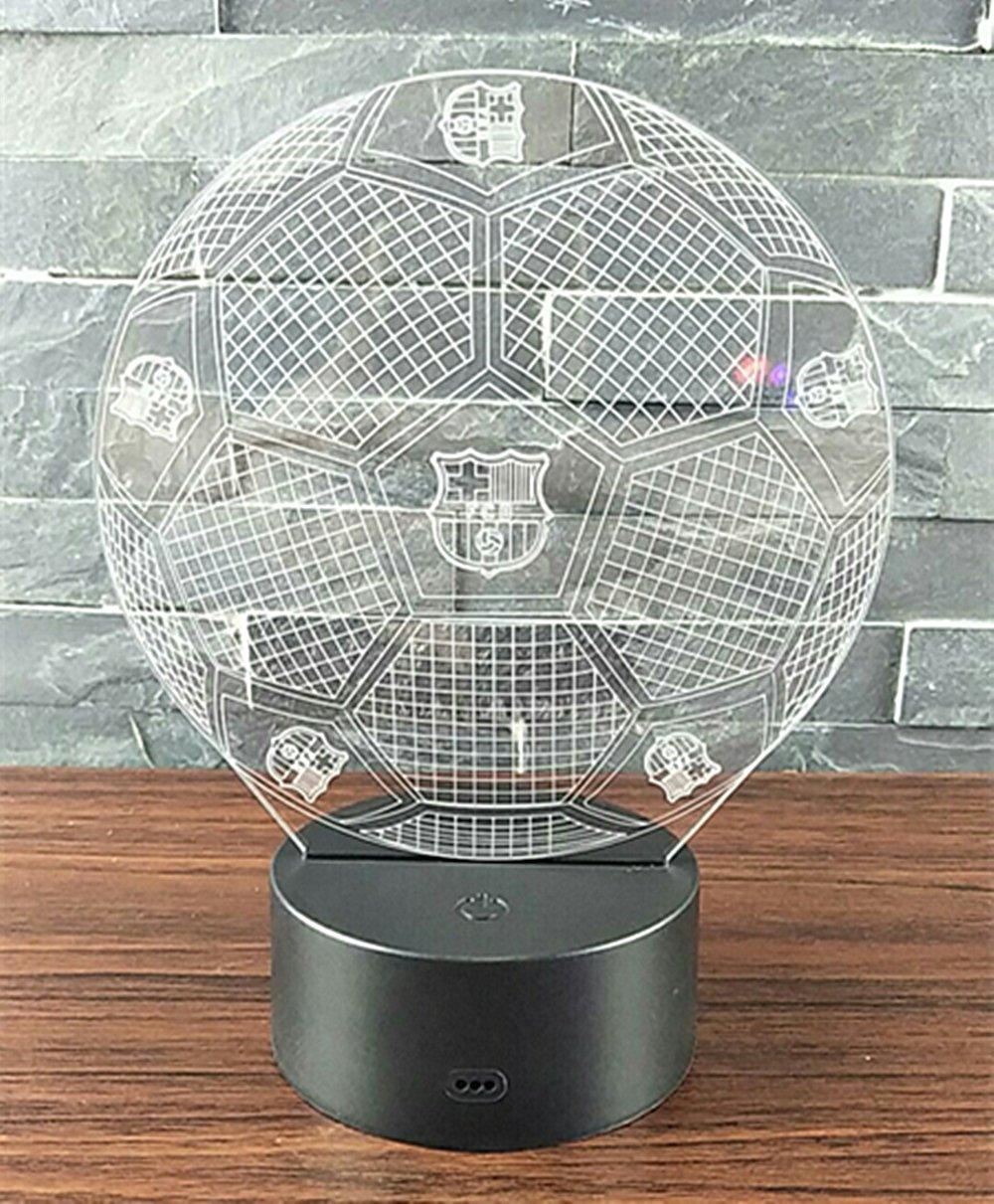 Manchester United NHsunray Lampada effetto 3D Luce notturna regolabile con 7 colori LED e Interruttore tattile lampada da scrivania San Valentino Della Decorazione della Casa Del Regalo di Natale