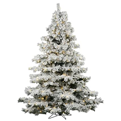 Vickerman 65' Flocked Alaskan Pine Artificial Christmas Tree with 600 Warm  White LED Lights - Amazon.com: Vickerman 65' Flocked Alaskan Pine Artificial Christmas