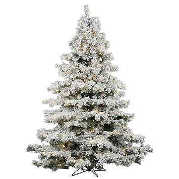 Vickerman 4.5' Flocked Alaskan Pine Artificial Christmas Tree with 300 Warm  White Lights - Amazon.com: Vickerman 4.5' Flocked Alaskan Pine Artificial Christmas