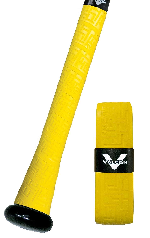 Vulcan Yellow Gold V175-YGLD Bat Grip Maze Debossed Tread pa