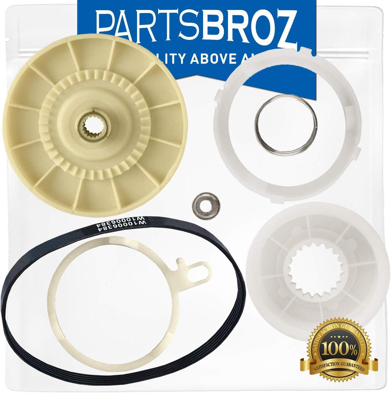 W10721967 Splutch Cam Kit & W10006384 Drive Belt by PartsBroz - Compatible with Whirlpool Dishwasher - Replaces AP5951296, W10006356, W10315818, PS10057144, W10006352, W10006353, W10818965