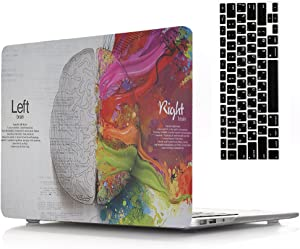 """2018 2017 2016 Ver MacBook Pro Retina 13"""" Case Cover with Keyboard Cover, AICOO Beautiful Hard Shell Case Cover for MacBook Pro Retina 13.3"""" with/Without Touch Bar & Touch ID A1989/A1706/A1708, Brain"""