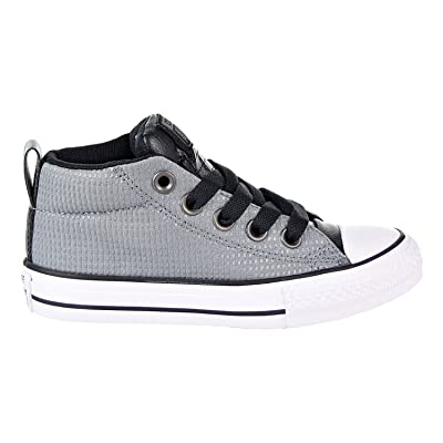 Converse Chuck Taylor All Star Street Mid Big Kid's Shoes Cool Grey/Black/White 660041f | Sneakers