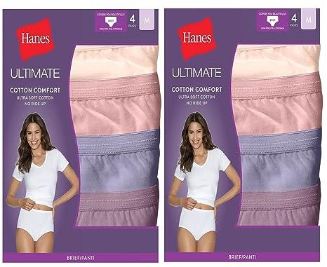 8d31cc01d5b Hanes Women s 8-Pack Cotton Briefs Panties Ladies Underwear