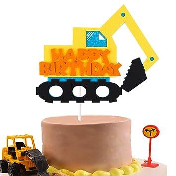 Amazon.com: BeYumi Camión Excavador inspirado en decoración ...