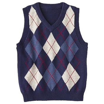 a2e7423c1 Amazon.com  Cherokee Infant Toddler Boys  Argyle Sweater Vest (12M ...
