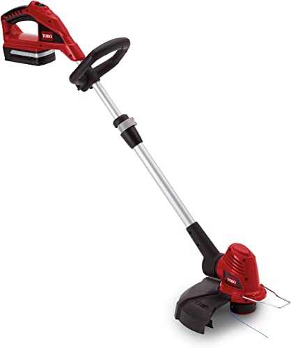 Toro 51484 Cordless 12-Inch 20-Volt Lithium-Ion Electric Trimmer Edger
