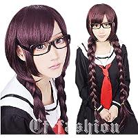 Cf-fashion Dangan-ronpa Fukawa Touko Long Braid Purple Cosplay Wig Party Costume Hair + Free Wig Cap