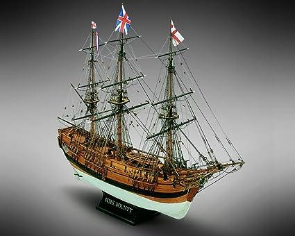 Length 448 mm 18 HMS Bounty Wood Plank-On-Bulkhead Ship Model Kit Mamoli MV52 Scale 1//100