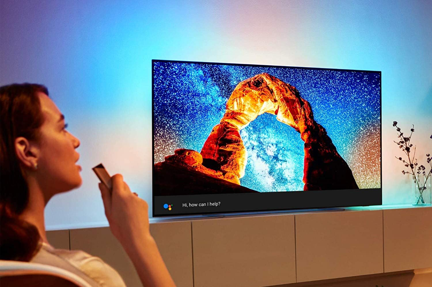 TV 65 Pollici OLED Philips 803 con luci ambientali Ambilight