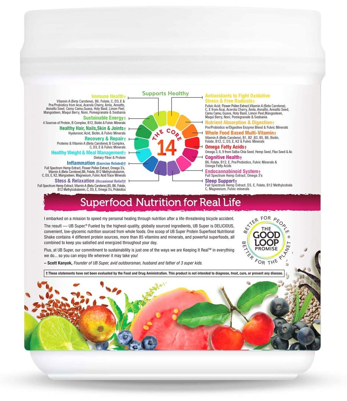 Our Newest Meal Replacement – UB Super – Full Spectrum Hemp Extract – Protein Superfood Nutritional Shake – Vegan, Gluten Free, Non GMO, No Added Sugar, Nutrient Rich – Dietary Supplement Vanilla