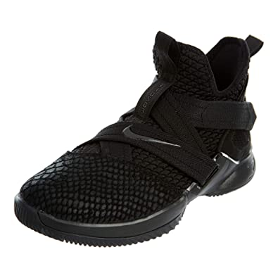 buy popular 0a449 7bee7 NIKE Lebron Soldier XII SFG Boys Basketball-Shoes AO2910-003_7Y -  Black/Black/Black