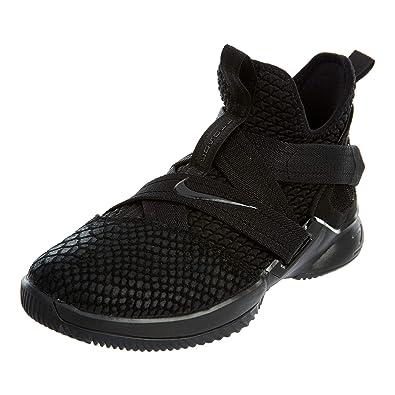 buy popular 2526e 5c648 NIKE Lebron Soldier XII SFG Boys Basketball-Shoes AO2910-003_7Y -  Black/Black/Black