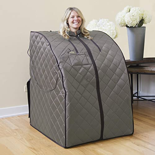 Radiant Saunas Rejuvinator Portable Personal Sauna with FAR Infrared Carbon Panels, Heated Floor Pad, Canvas Chair Renewed