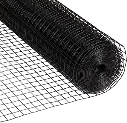 Amazon Com Fencer Wire 16 Gauge Black Vinyl Coated Welded Wire Mesh Size 0 5 Inch By 0 5 Inch 4 Ft X 100 Ft Home Improvement