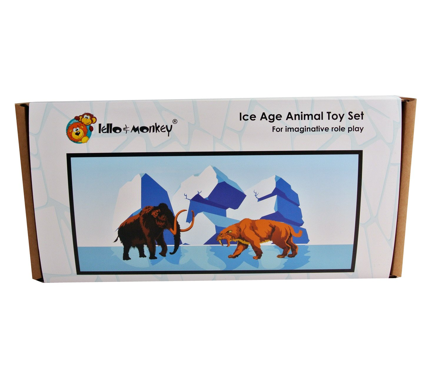 Lello & Monkey Ice Age Pre-Historic Plastic Toy Figures boxed set of ...