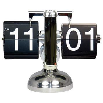 Framan Flip Clock Retro Relojes de Sobremesa Modernos. Cuarzo, Base de Metal y láminas de plástico: Amazon.es: Hogar