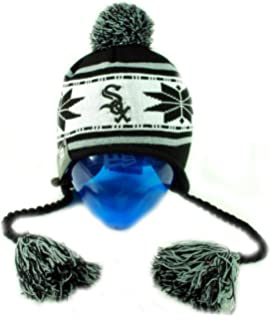 aa5ad2524e5 New Era Chicago White Sox Unisex Beanie Tassel Snowflake Hat One Size Mlb  Baseball