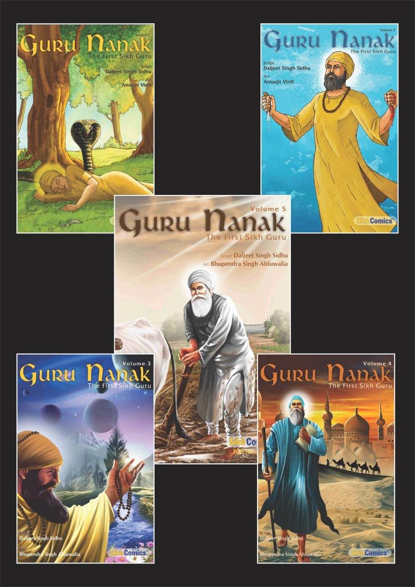 Buy Guru Nanak - The First Sikh Guru, Set of Five Books Vol1, 2, 3