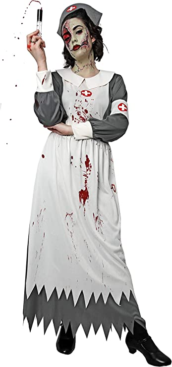 Costumizate! Disfraz de Enfermera Zombie para Mujer Adulta Talla ...