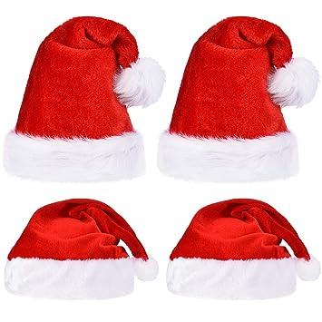 Amazon.com  Sumind 4 Pieces Christmas Santa Hat 378ba5604a8