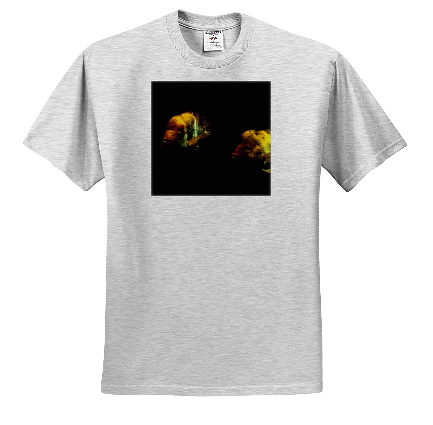Animals T-Shirts Two Fish 3dRose Mike Swindle Photography
