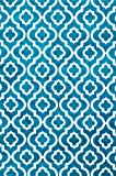 3028 Turquoise Moroccan Trellis 5'2x7'2 Area Rug