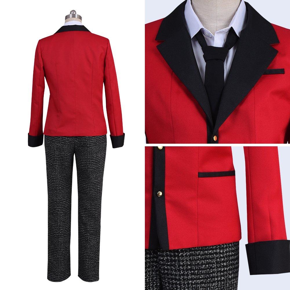 starfun Kakegurui Compulsive Gambler Suzui Ryota Cosplay Costume Manyuuda Kaede School Uniform Suit Red by starfun (Image #6)