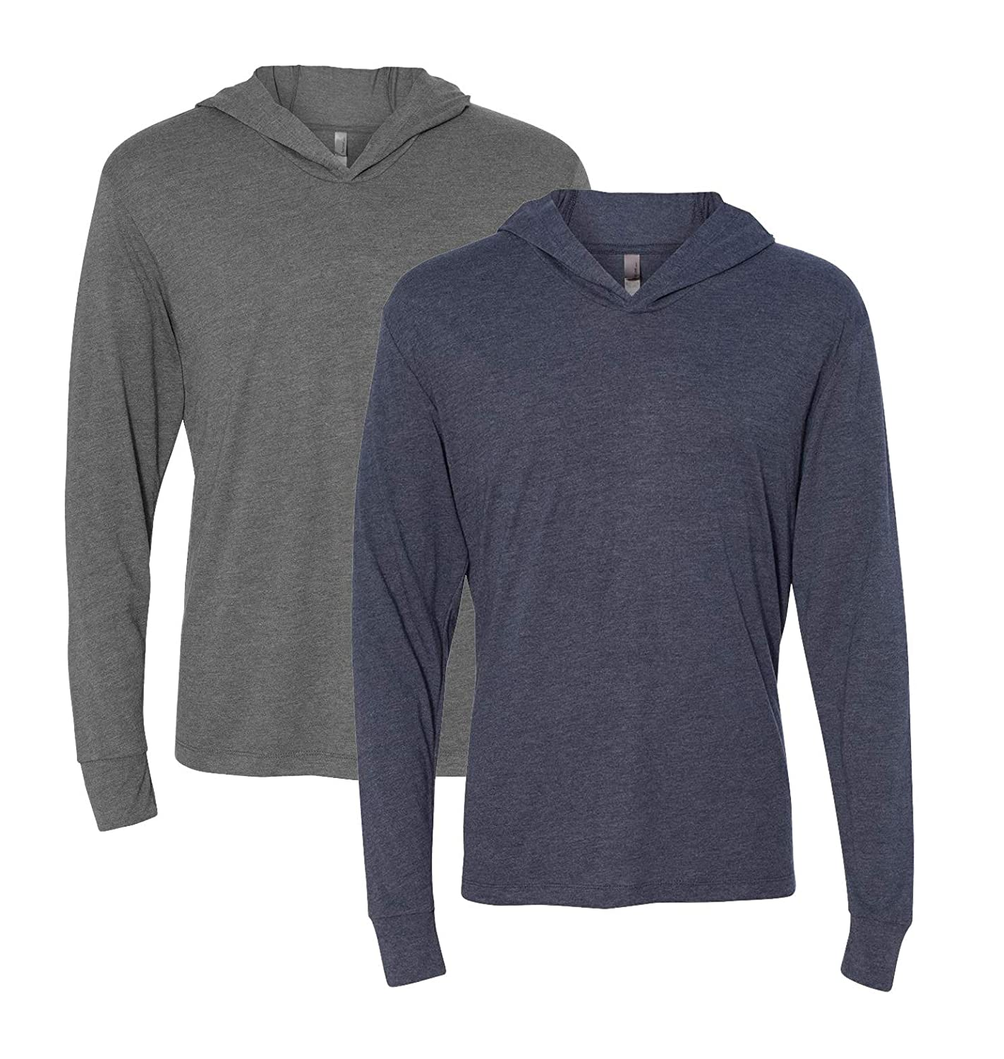 N6021 Next Level mens Triblend Long-Sleeve Hoodie