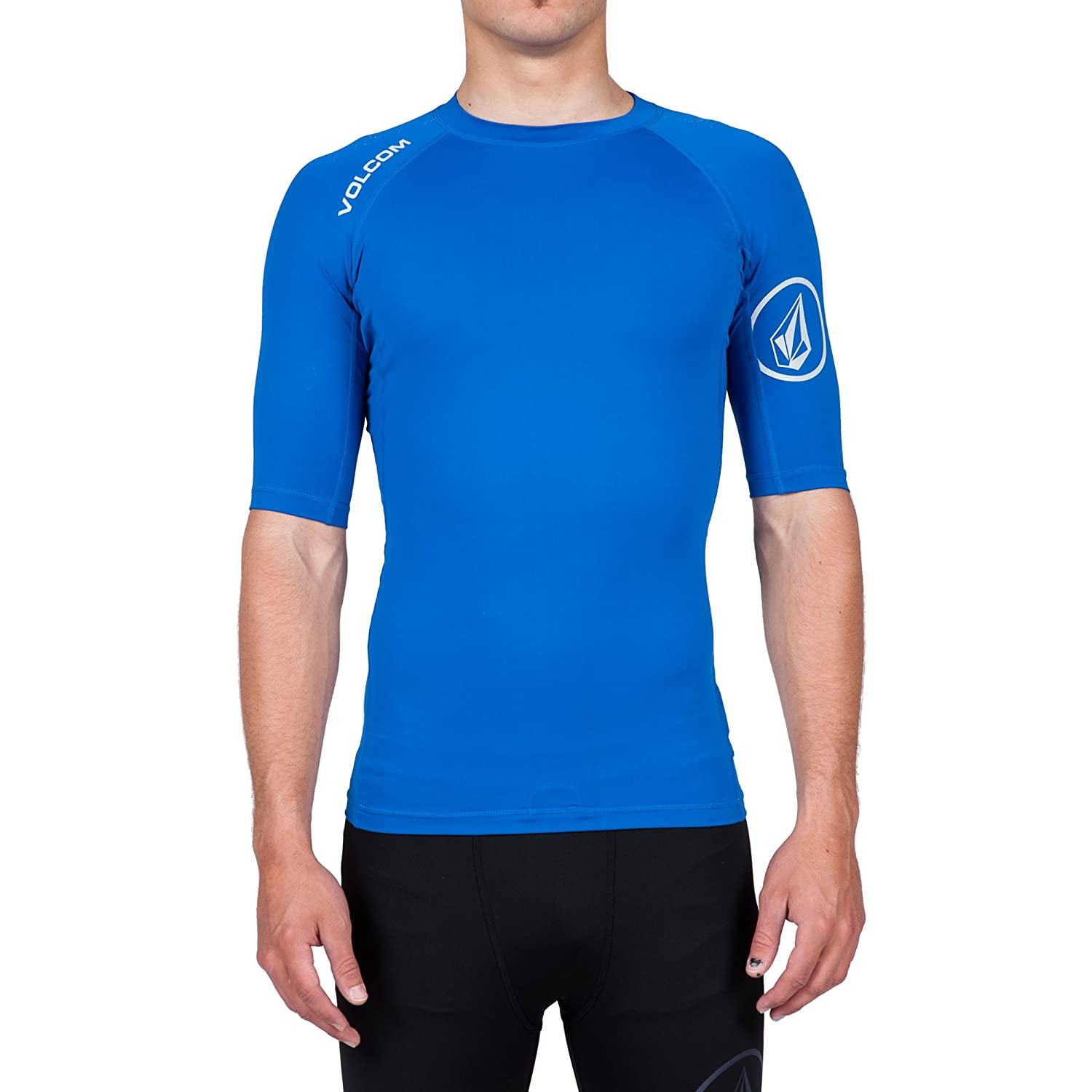 Volcom Mens Solid Short Sleeve Rashguard N0111600