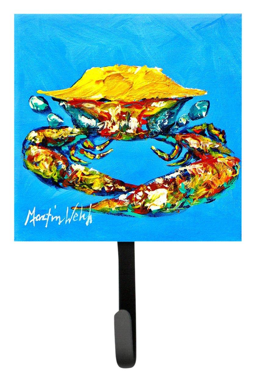 Carolines Treasures MW1003SH4 Crab Baby Blue Leash or Key Holder Multicolor Small